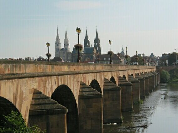 Crossing the Loire at Moulins.
