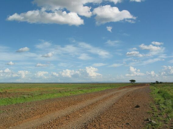 The road to Marsabit. Kenya.