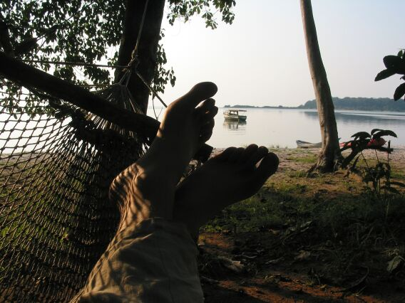 Getting ready for sunset. Ssese Islands, Uganda.